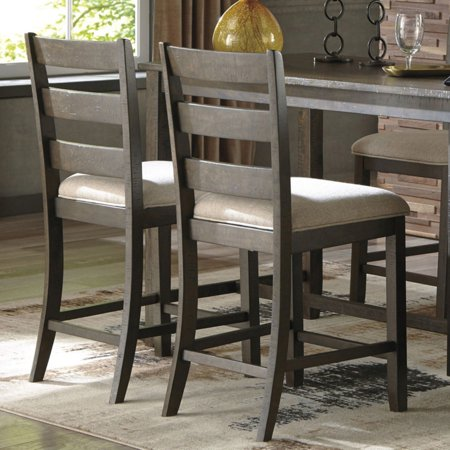 Signature Design by Ashley Rokane Upholstered 24.75 in. Counter Stool - Set of