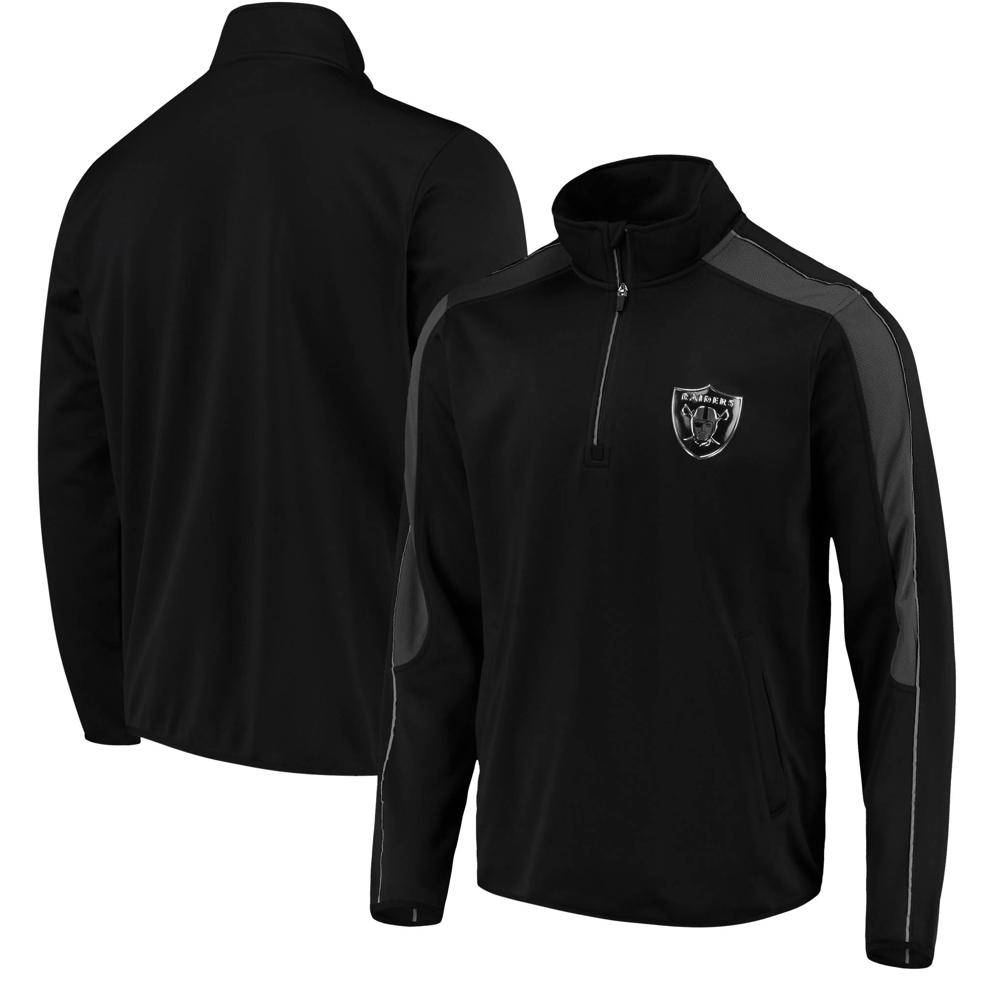 Oakland Raiders G-III Sports by Carl Banks I Formation Quarter-Zip Pullover Jacket - Black