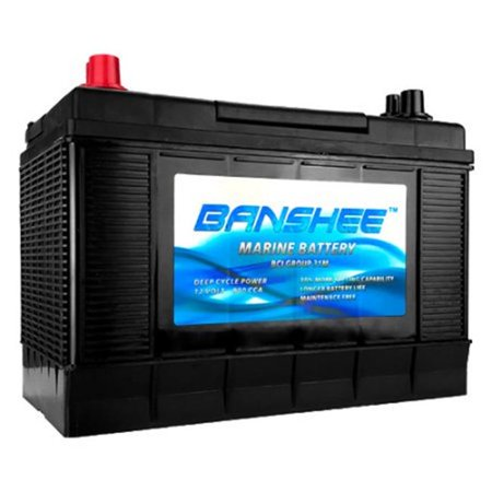 Banshee 31M-Banshee-3 31 Series Marine Battery Replaces Optima Blue Top D31M