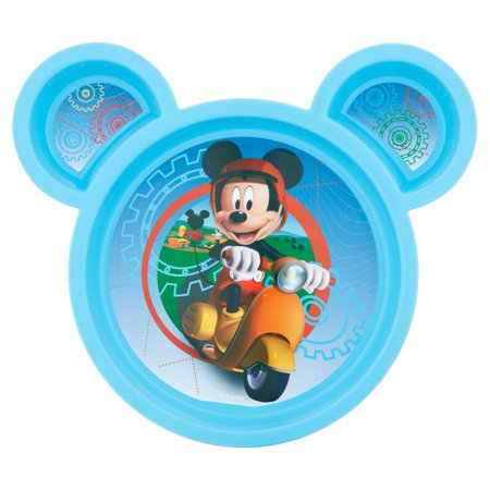 Disney Mickey Mouse Toddler Plate, Sectioned Plate, Blue