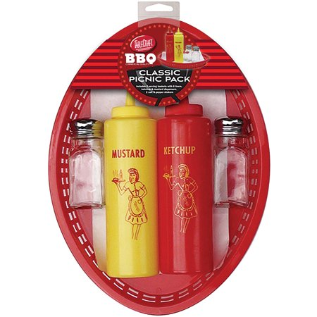Classic Picnic Pack Enjoy Summer BBQs - Baskets Shakers Squeeze Bottles +