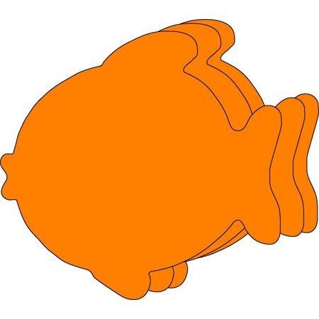Fish Cut Out (Large Single Color Creative Foam Cut-Outs -)
