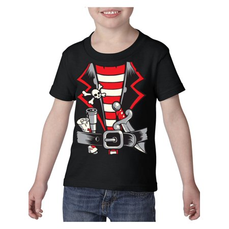 Pirate Costume Heavy Cotton Toddler Kids T-Shirt Tee Clothing