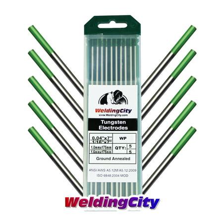 WeldingCity Pure  (Green) Tungsten TIG Welding Electrodes Assorted Size 0.040