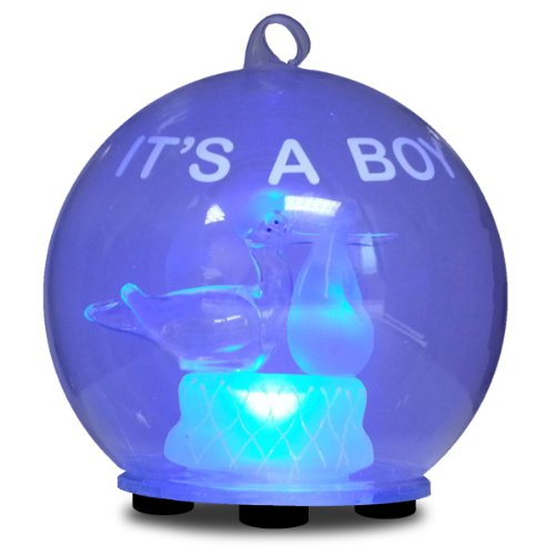 Gerson Special Delivery LED Glass Globe, It's a Boy