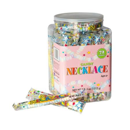 Smarties Lollipops (Candy Necklace, 2 Lb, 72 Ct)