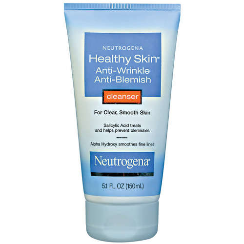 Neutrogena Healthy Skin Anti-Wrinkle Anti-Blemish Cleanser- 5.1 fl oz - Walmart.com