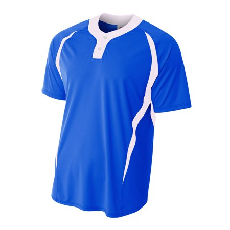 Image of 2-Button Color Blocked Jersey