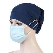 SHIYAO 2020 New Fashion Women Nurse Scrub Elastic Turban Hat Muslim Chemo Cap Head Wrap Gift