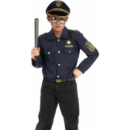 Disfraz De Policia Para Halloween (Rubies Police Kit Boys Halloween)