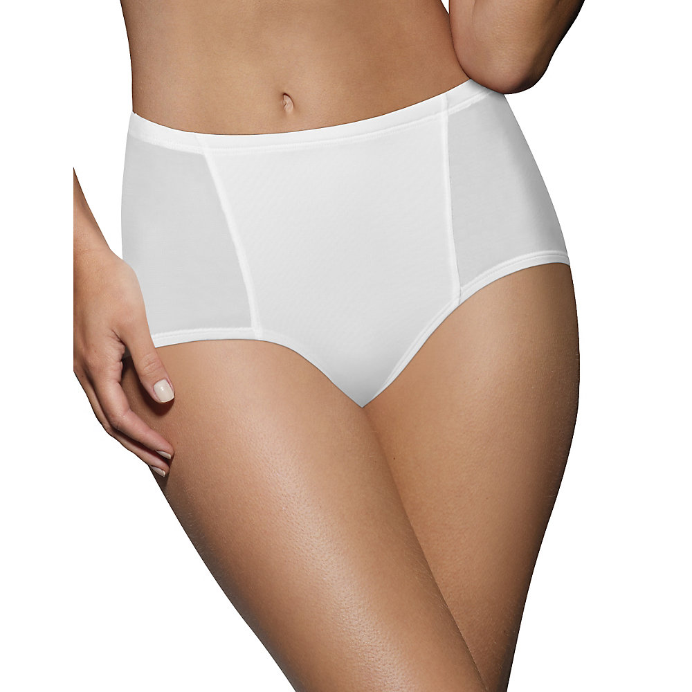 women's one smooth u simply smooth brief panty, nude, medium/6