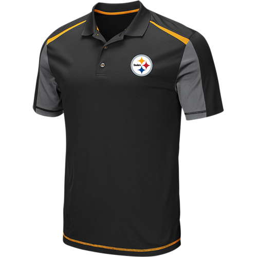 Men's Black Pittsburgh Steelers Draft Prize Polo
