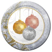 """Club Pack of 96 All That Glitters Round Premium Strength Disposable Banquet Plates 10"""""""