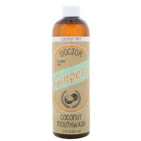Dr. Ginger's Fluoride Free Coconut Mint Mouthwash, 12 Fl. Oz.