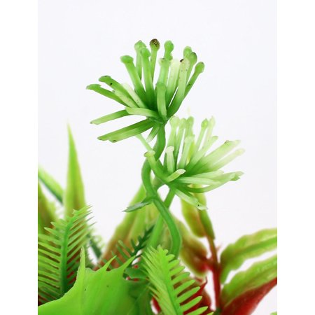 Aquarium Tank Manmade Underwater Plastic Plant Ornament 10cm High Green Red 4Pcs - image 2 de 2