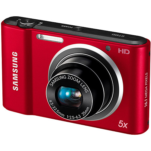 Samsung ST66 16 MP Compact Digital Camera - Red (EC-ST66ZZBPRUS)