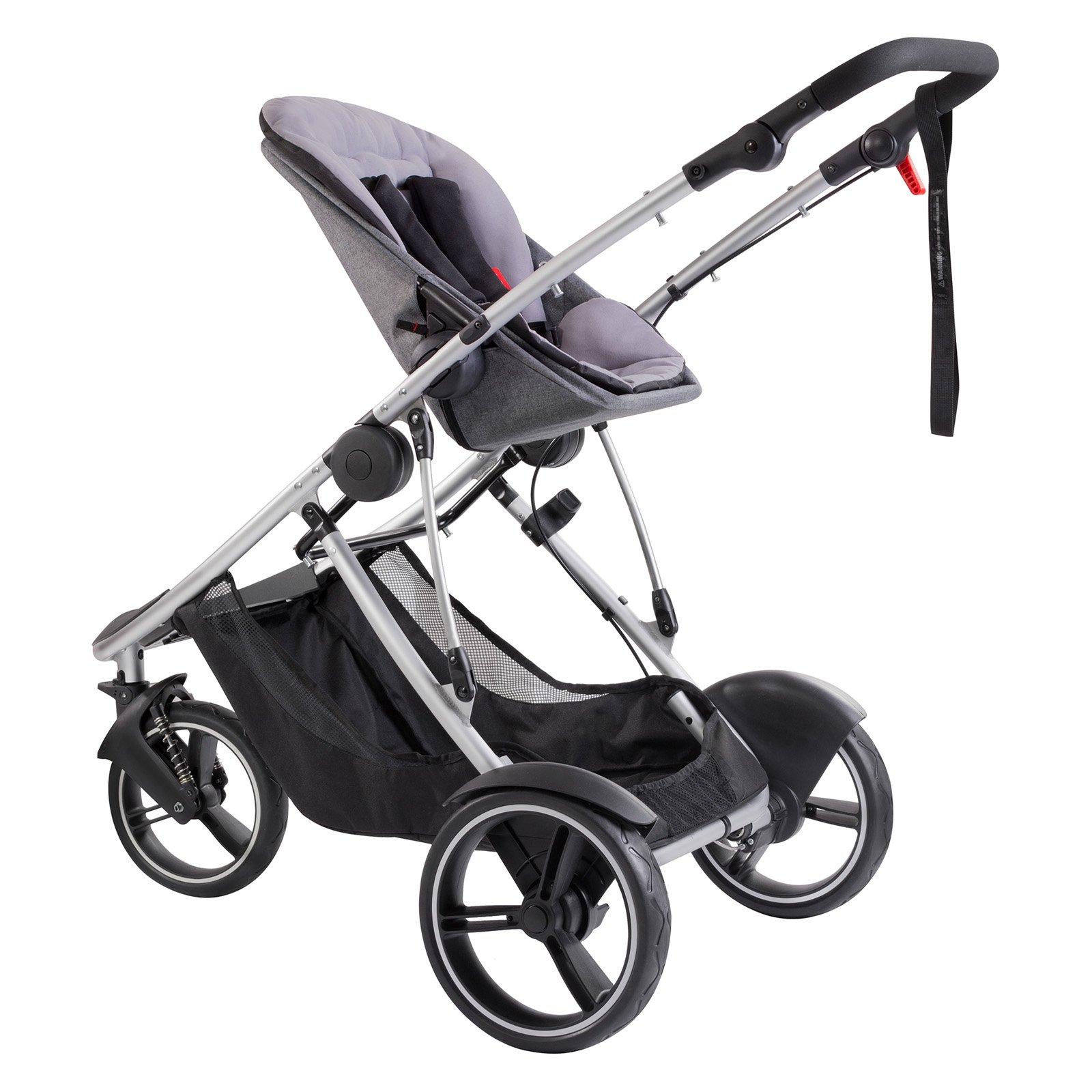 Phil & Teds Phil ; Teds Dash Inline Stroller - Grey Marl