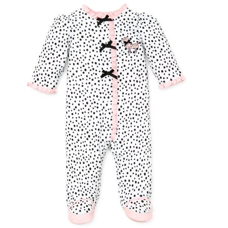 571d07e32 Little Me Perfect Poodle Snap Front Footie Pajamas For Baby Girls Sleep N  Play One Piece