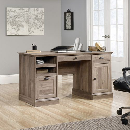 Barrister Lane Executive Desk Salt Oak Walmart Com