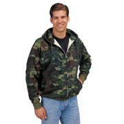 rothco thermal lined zipper hoodie, camo, small