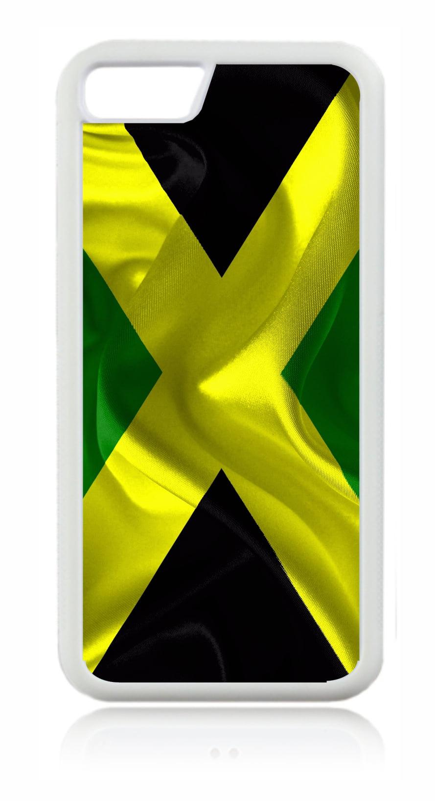 Flag Jamaica - Jamaican Flag White Rubber Case for the Apple iPhone 7 Plus / 7+ / iPhone 8 Plus ...