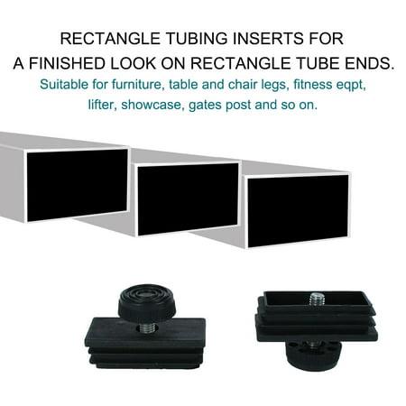 Leveling Feet 30 x 60mm Rectangle Tube Inserts Kit Furniture Glide Adjustable Leveler for Desk Table Sofa Leg 8 Sets - image 2 de 7
