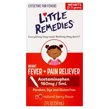 Little Fevers by Little Remedies Berry Infant Fever & Pain Reliever Liquid, 2 fl oz