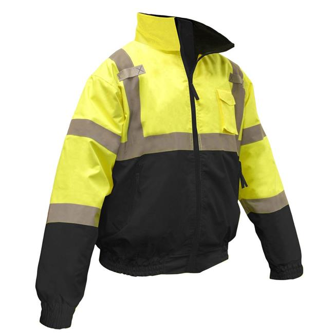 Sj110b Two-In-One High Visibility Bomber Safety Jackets, M, Polyester, Green
