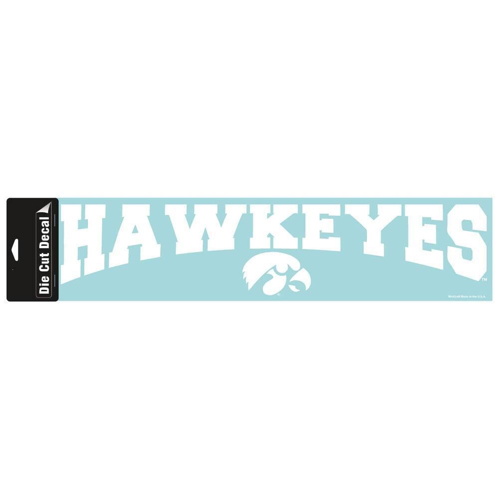 Iowa Hawkeyes Official NCAA 4 inch x 17 inch  Die Cut Car Decal by Wincraft