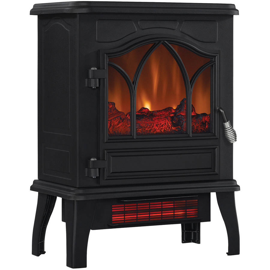 black ca electric adjustable homcom dp amazon standing home fireplace portable free kitchen