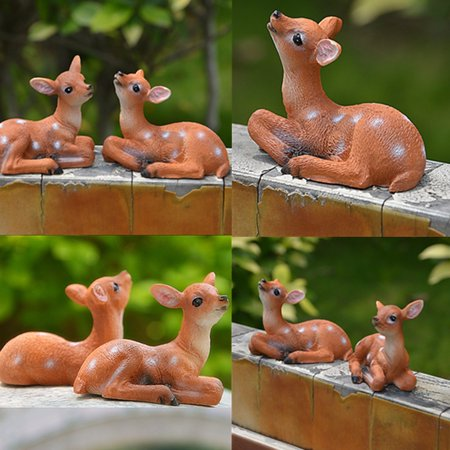 New Miniature Deer Garden Ornament Figurine Fairy Craft Gift Dollhouse Decoration