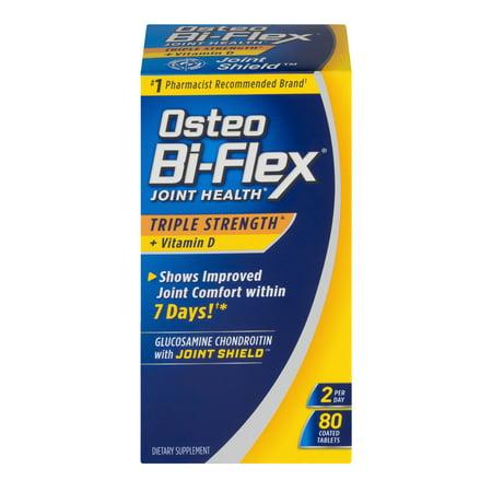 Osteo Bi-Flex Force Triple avancée Joint Formula Shield w / vitamine D - 80 Ct