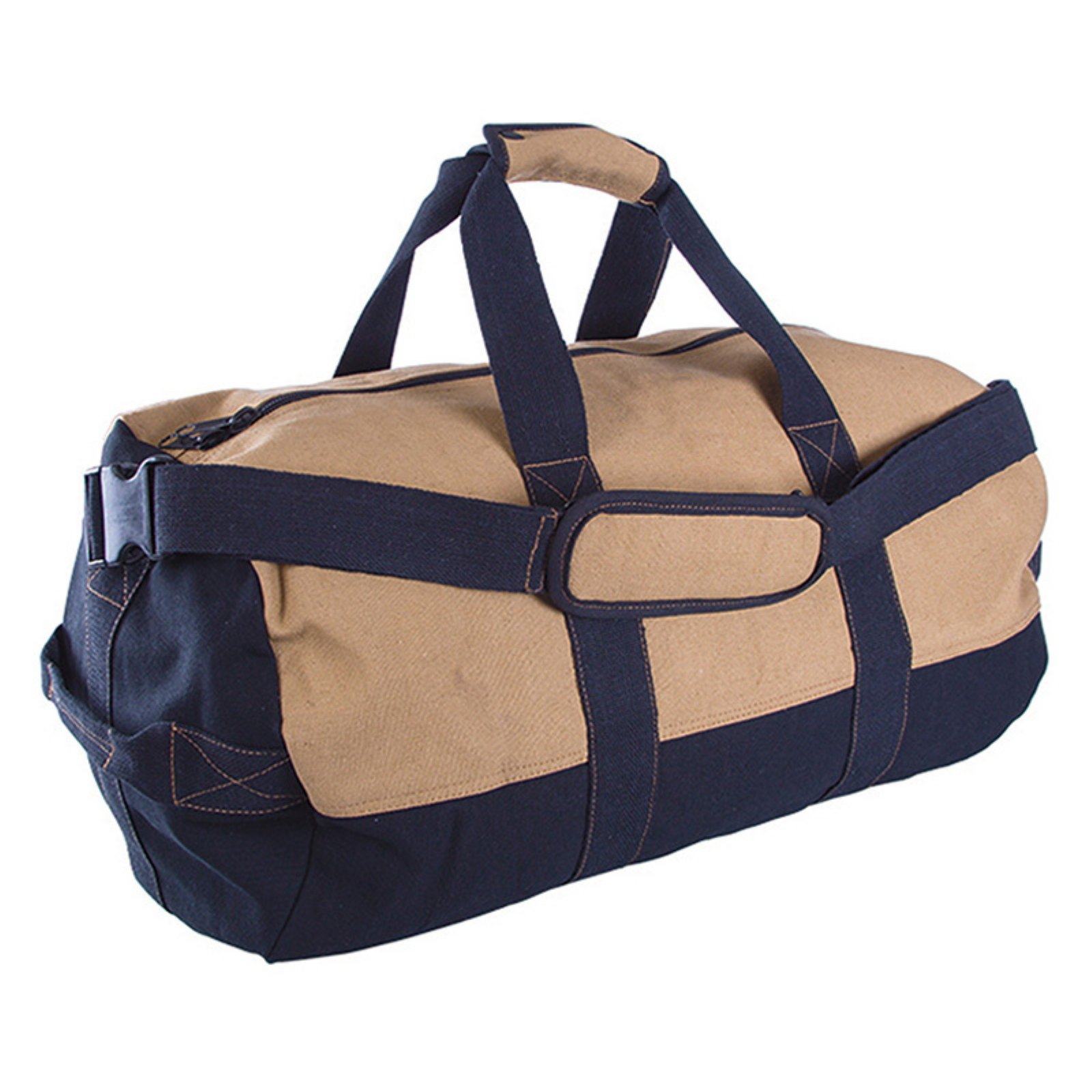 "Duffle Bag with Zipper, 2-Tone, 14"" x 24"""