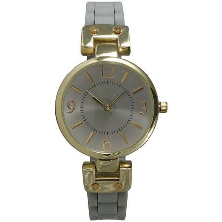 Women's Silicone Skinny Strap Watch