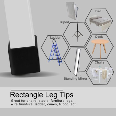 """Desk Table Leg Caps End Tip Home Furniture Protector 32pcs 0.79""""x1.57"""" (20x40mm) - image 6 of 7"""
