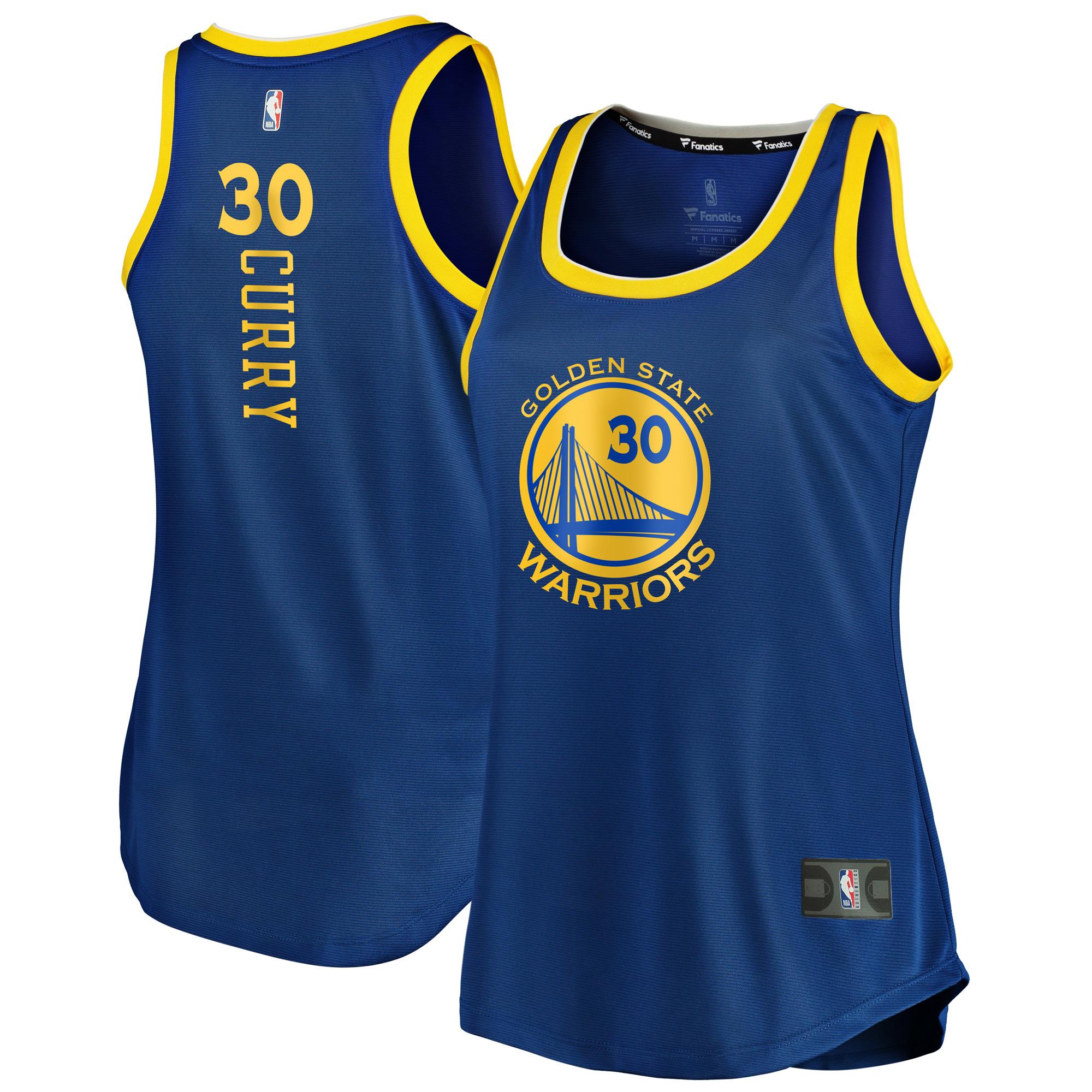 Stephen Curry Golden State Warriors Fanatics Branded Women's Fast Break Tank Jersey - Icon Edition - Royal