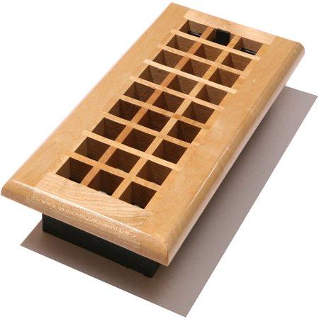 Decor grates lattice wood floor register for 6x12 wood floor register