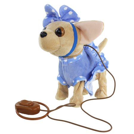 Interactive Plush Toy Chihuahua, It Plays Two Songs and It walks to the Beat of the Music. It Walks Forward! Makes a Great Gift!