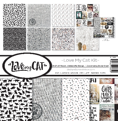 "Reminisce Collection Kit 12""X12""-Love My Cat"
