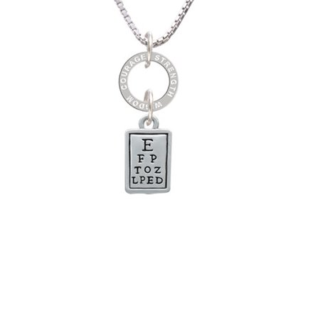 Eye Chart Courage Strength Wisdom Eternity Ring Necklace Walmart
