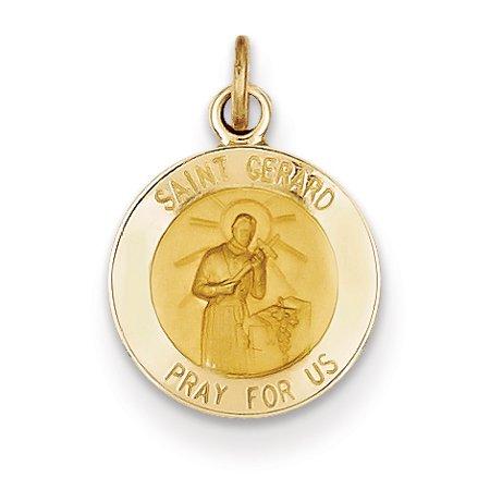 14K Yellow Gold Saint Gerard Medal Charm - image 2 of 2