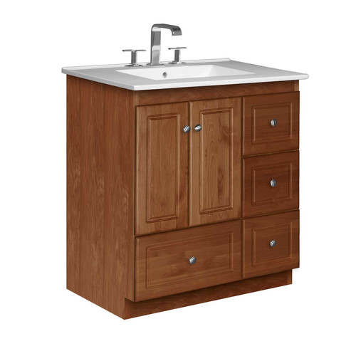 Strasser Woodenworks Simplicity 31'' Single Bathroom Vani...