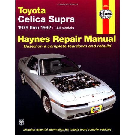 Toyota Celica Supra, 1979-1992 (Haynes Manuals)
