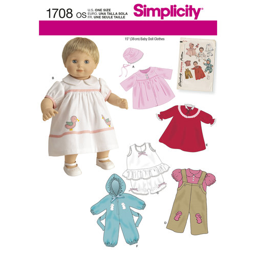 "Simplicity Crafts 15"" Baby Doll Clothes"