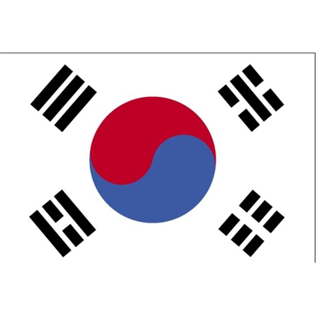 Annin Flagmakers 190357 4 ft. X 6 ft. Colonial Nyl-Glo South Korea Flag with... by Annin Flagmakers