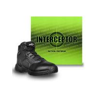 Interceptor Men's Canton Waterproof Work Boots, Slip Resistant, Black