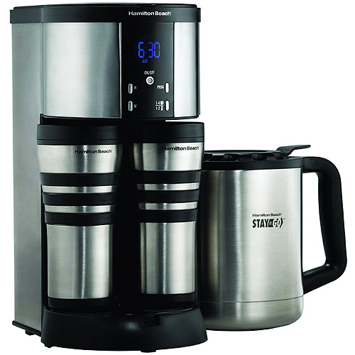 Hamilton Beach Thermal 10-Cup Coffee Maker with Travel Mugs