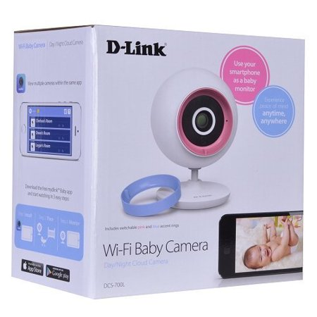 d link dcs 700l wireless day night baby monitor camera w audio remote viewing white. Black Bedroom Furniture Sets. Home Design Ideas