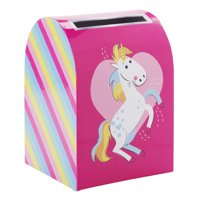 Way To Celebrate Valentine's Day Mailbox, Rainbow Unicorn
