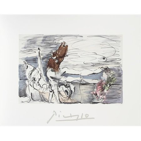 Pablo Picasso 2040 Minotaure  44  Lithograph On Paper 29 In  X 22 In    Brown  44  Gray  44  Pink  44  Green  44  Black